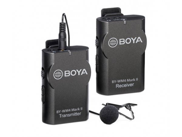 Microfono, BY-WM4 Mark2, inalámbrico corbatero, omnidireccional (transmisor + receptor).