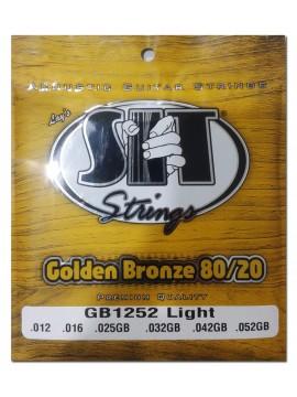 Encordado para Acustica, GB1252, Golden Bronze 80/20, 012-052, light.