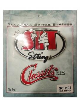 Encordado para Clasica, SCH102, high, clear nylon/silver wound.
