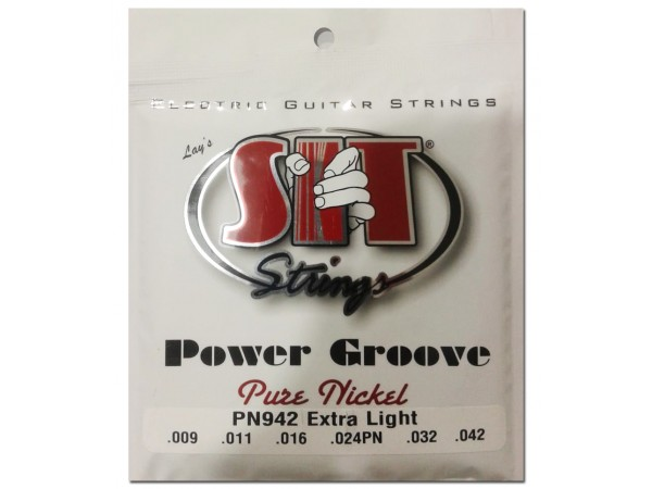 Encordado para Electrica, PN942, Power Groove, pure nickel, extra light, 009-042