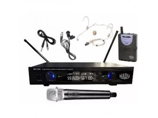 Microfono para Canto ND-204 UHF inalambrico mano